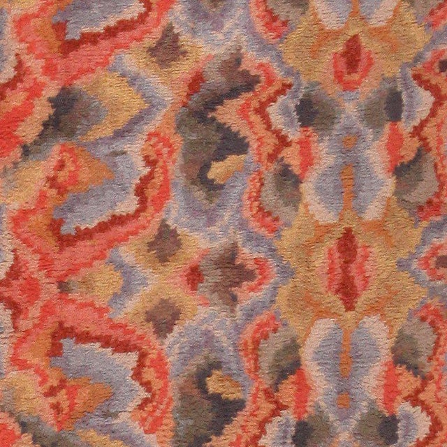 Early 20th Century Vintage Swedish Abstract Floral Rug - 10′ × 12′ For Sale - Image 5 of 8