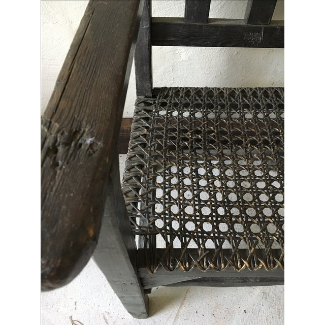 Primitive Asian Wicker Chair - Image 3 of 3