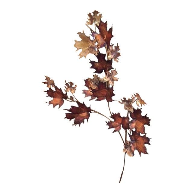 Curtis Jere Bronze Leaf Sculpture - Image 1 of 5