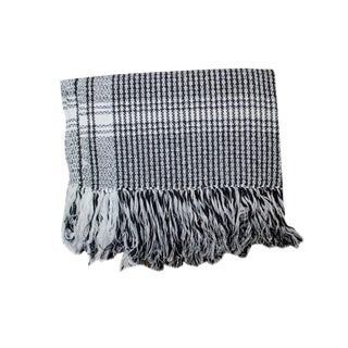 Black Rebozo Sofa Throw For Sale
