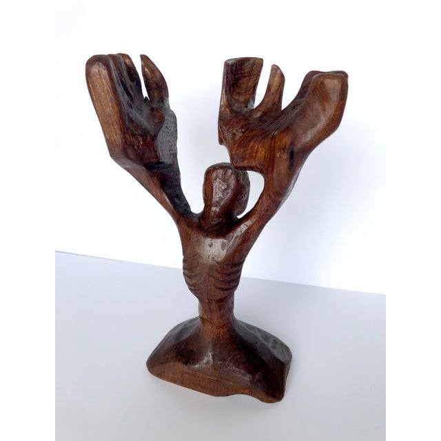 This hand-carved figure is a gorgeous piece of folk art, and a show-stopping sculptural object for your coffee table or...