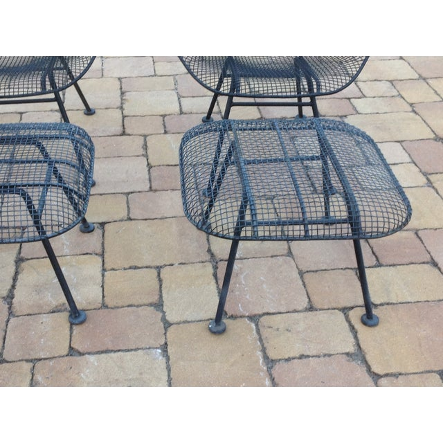 Russell Woodard Wire Chairs & Ottoman - Pair - Image 6 of 6