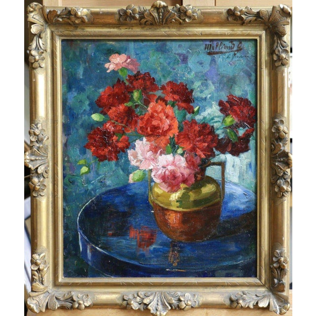 French Late 19th Century Antique Gabrielle Millioud Melay Signed French Impressionist Oil Painting For Sale - Image 3 of 9