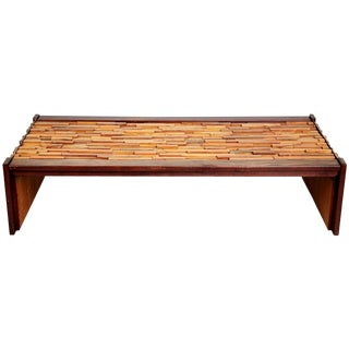 Percival Lafer Exotic Wood Long Coffee Table for l'Atelier De Sao Paulo, Brazil For Sale