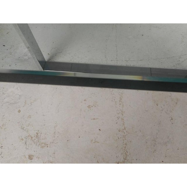 Chrome Milo Baughman Style Mid-Century Modern Chrome Coffee Table For Sale - Image 7 of 7