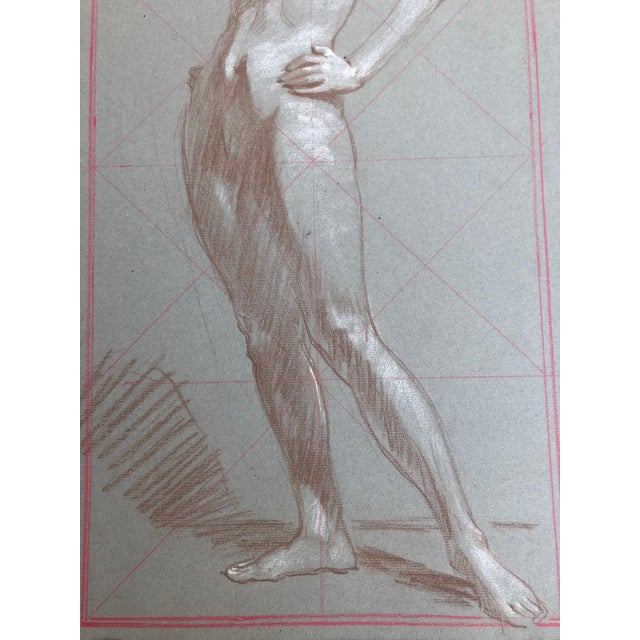 American 1920s American Modernist Nude Drawings by Kenneth Hartwell - a Pair For Sale - Image 3 of 6