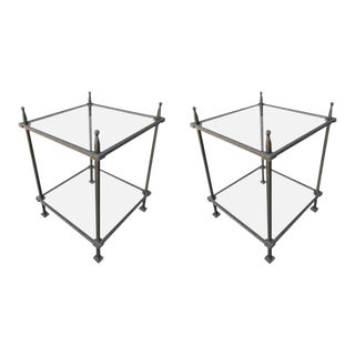 1960s Italian Claudio Rayes Iron Side Tables - a Pair For Sale