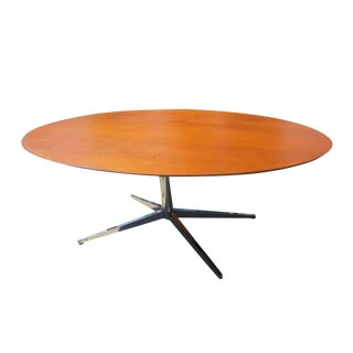 Knoll Teak Oval Conference Table For Sale