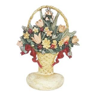 Vintage Cast Iron Hubley Style Flower Basket