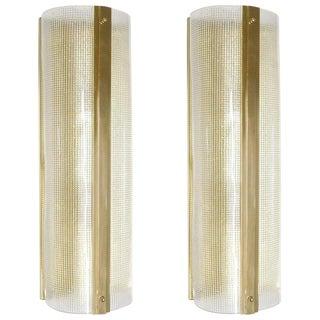Pair of Strutturato Sconces / Flush Mounts by Fabio Ltd For Sale
