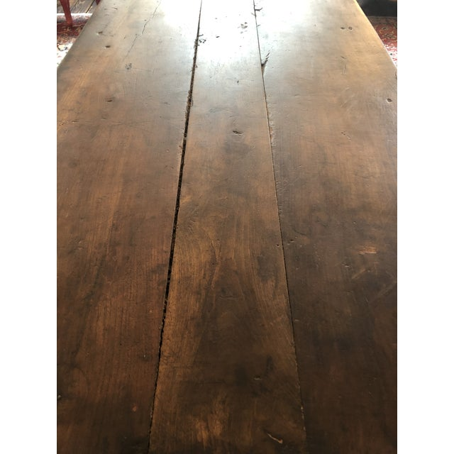 19th Century French Walnut Farm Table For Sale - Image 11 of 13