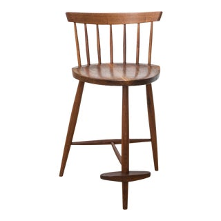 George Nakashima Walnut Mira Stool For Sale
