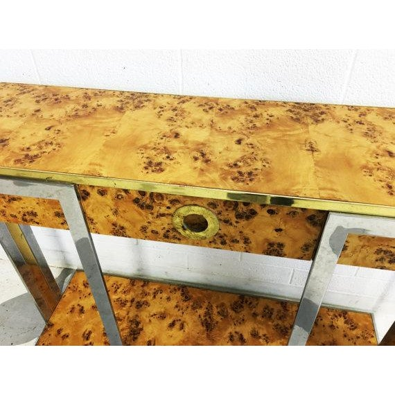 Willy Rizzo Burl Wood Console - Image 4 of 6