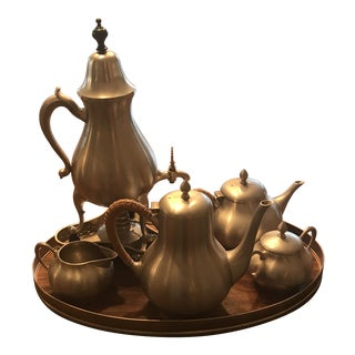 20th Century Traditional Metawa Holland Real Pewter Tea Set - 6 Pieces For Sale