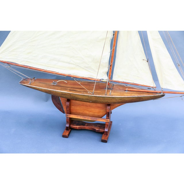 1900 - 1909 5' Antique English Pond Yacht Cutter For Sale - Image 5 of 9