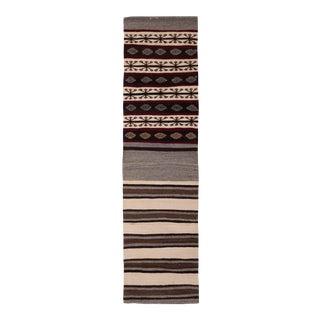 """Vintage Striped Turkish Kilim Runner Rug 2'4"""" X 8'8"""" For Sale"""
