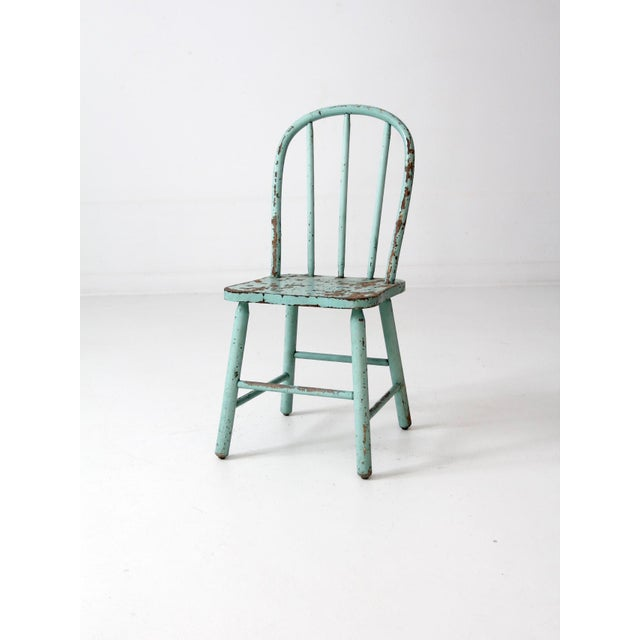 Vintage Children's Spindle Back Chair For Sale - Image 6 of 8