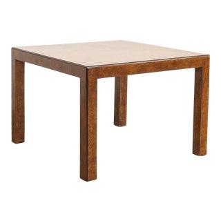 Mid Century John Widdicomb Square Burl Wood Coffee Table For Sale