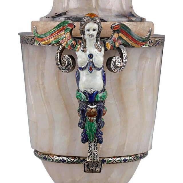 A glorious example of 19th century Viennese craftsmanship, this beautiful covered urn is hand-wrought from exquisite...