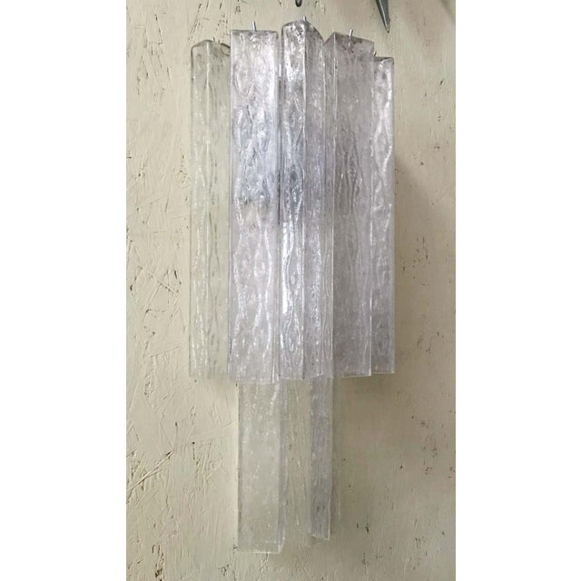 Italian Murano Glass Tubes Sconces - a Pair For Sale In Palm Springs - Image 6 of 12