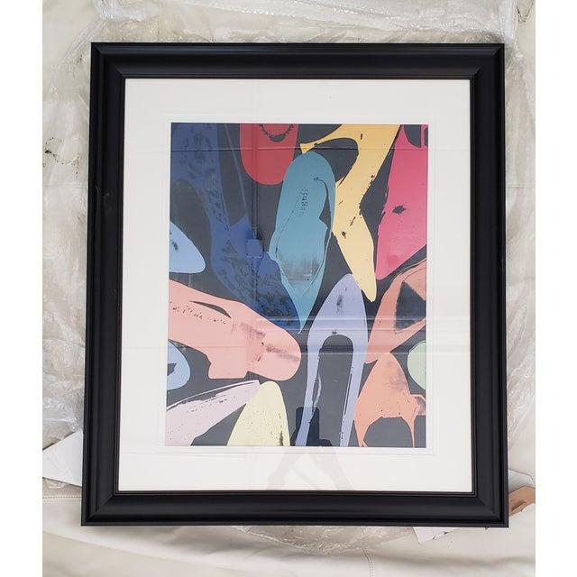 Black 1980s Warhol Shoes Framed Print For Sale - Image 8 of 8