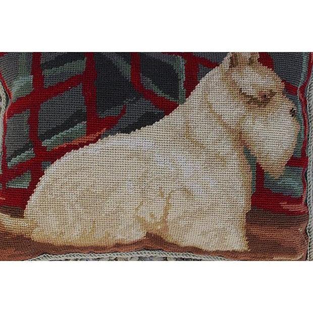 Aubusson Scotty Dog Tassel Pillow - Image 3 of 4