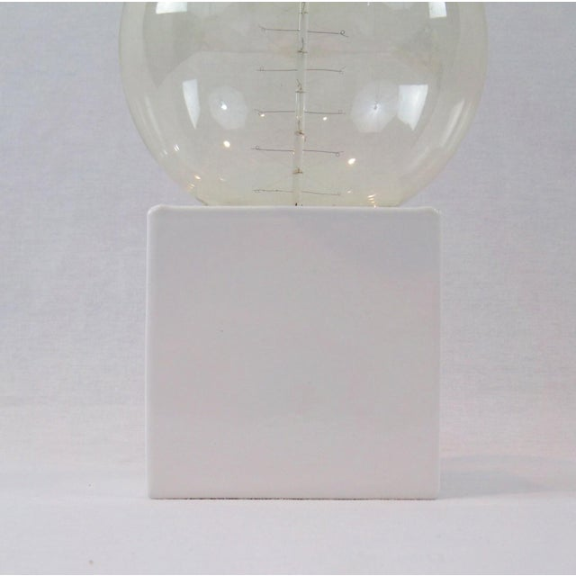 White Cube Table Lamp - Image 3 of 8