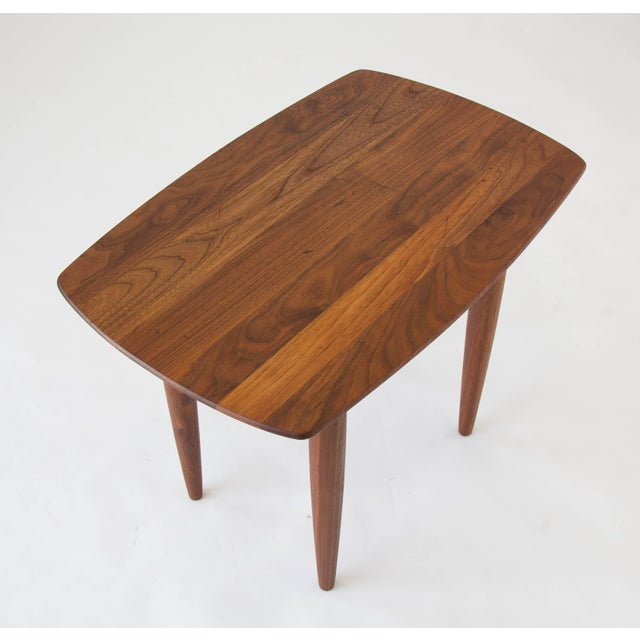 Prelude Walnut Side Table For Sale In Los Angeles - Image 6 of 7