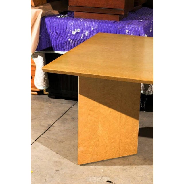 Gorgeous Knife Edge Extension Dining or Conference Table in Bird's-Eye Maple For Sale - Image 9 of 11