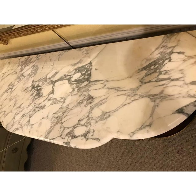 Jansen Style Marble-Top Bronze Mounted Consoles - a Pair For Sale - Image 9 of 11