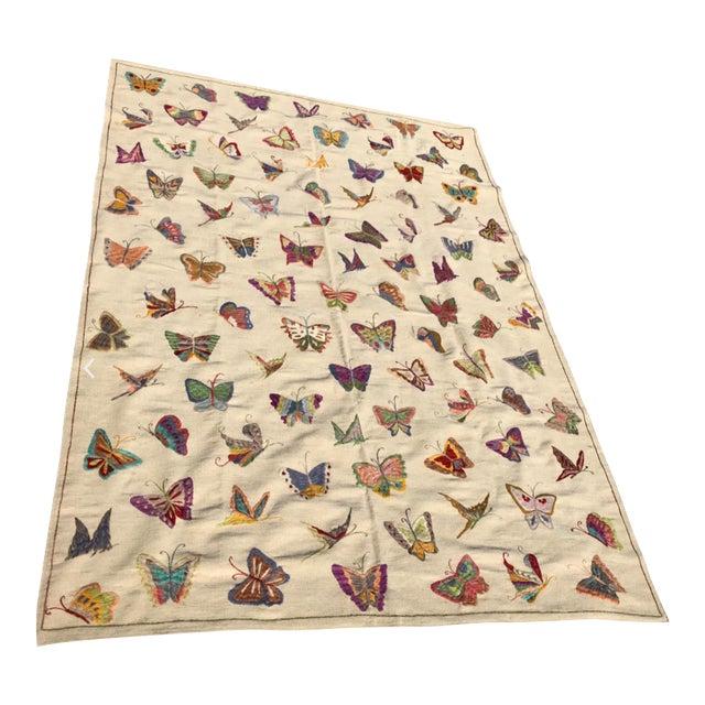 "Handmade Butterfly Kilim Rug - 6'9"" x 9'10"" - Image 1 of 3"