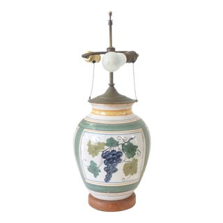 Vintage Italian Majolica Lamp For Sale