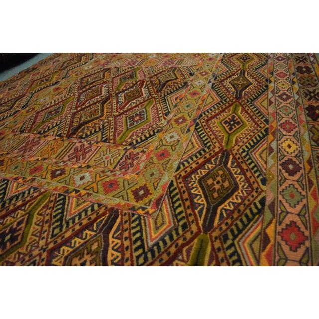 "Islamic Vintage Handmade Nakhunak Kilim Rug - 4'5"" x 5'7"" For Sale - Image 3 of 7"