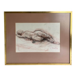 Sheldon C. Schoneberg Signed Original Nude Drawing For Sale