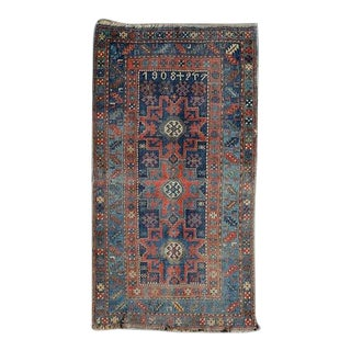 1920s Antique Kazak Rug- 4′ × 6′9″ For Sale