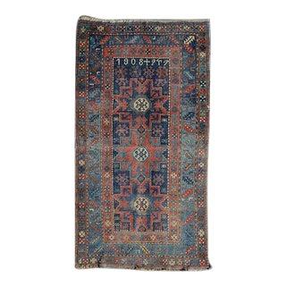 1920s Antique Kazak Rug- 4′ × 6′9″ For Sale