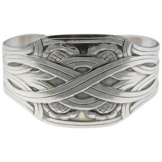 Georg Jensen Modernist Design Sterling Cuff Bracelet For Sale