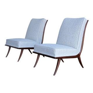 1950s Vintage t.h. Robsjohn-Gibbings for Widdicomb Slipper Chairs- A Pair For Sale