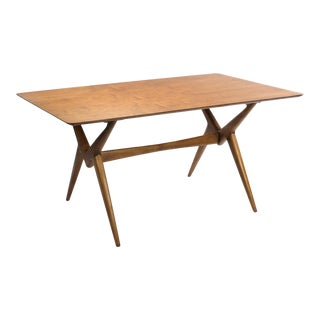 Vintage Lorenzo Rutili Walnut Dining Table For Sale