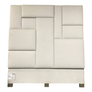 Mosaic Upholstered Queen Headboard For Sale
