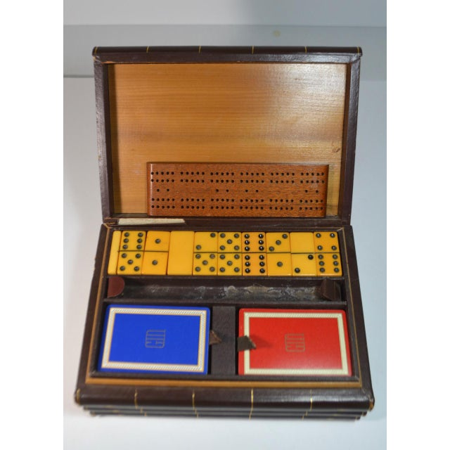 Art Deco Vintage Game Set in Book Shaped Box For Sale - Image 3 of 12