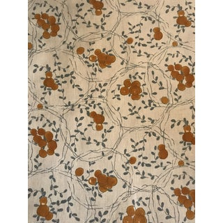 Traditional Rosa Bernal Collection Sevilla Azul Fabric - 2.5 Yards For Sale