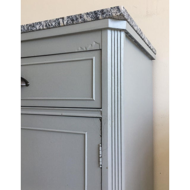 Grey Painted Server With Granite Top For Sale In Richmond - Image 6 of 11