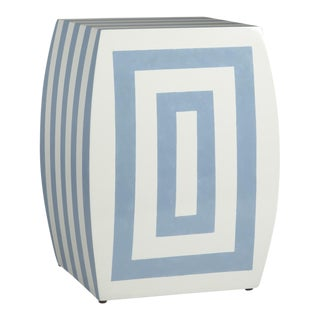 Mantis Blue & Cream Stool For Sale