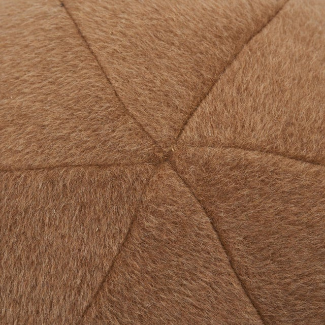 Contemporary Schumacher Dixon Mohair Weave Sphere Pillow in Vicuna For Sale - Image 3 of 5