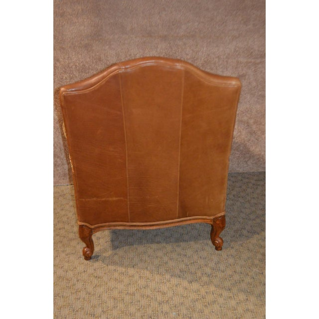 Ethan Allen Ethan Allen Multi Fabric Oversized Chair & Ottoman For Sale - Image 4 of 13