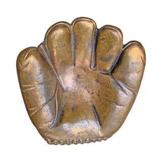 Bronze Baseball Glove Vide Poche For Sale
