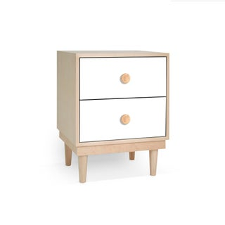 Lukka Modern Kids 2-Drawer Nightstand in Maple With White Finish Preview