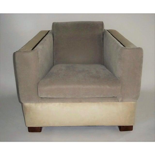Art Deco 1940s Vintage Paul Frankl Style Streamline Moderne Lounge Chair For Sale - Image 3 of 12