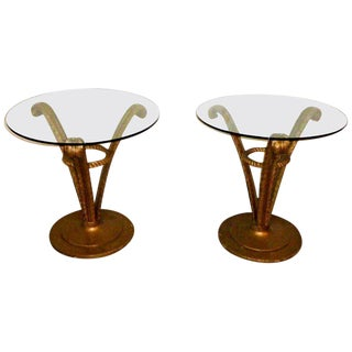 1950s Hollywood Regency Grosfeld House Side Tables - a Pair For Sale